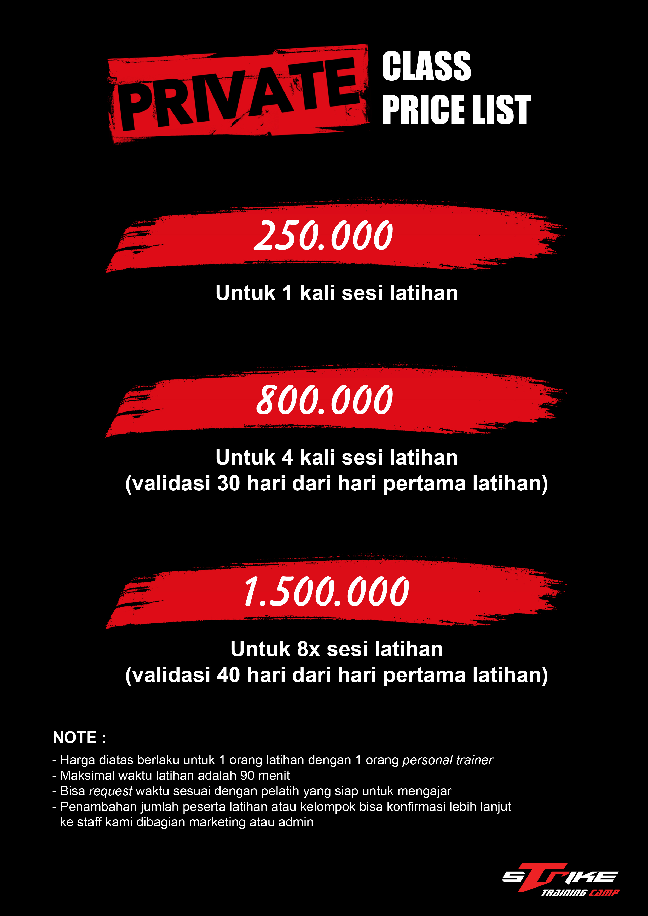 New Price List Private Juni 2020